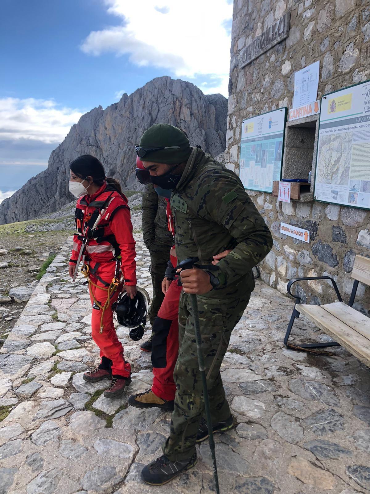 Rescate de montaña en el Urriellu