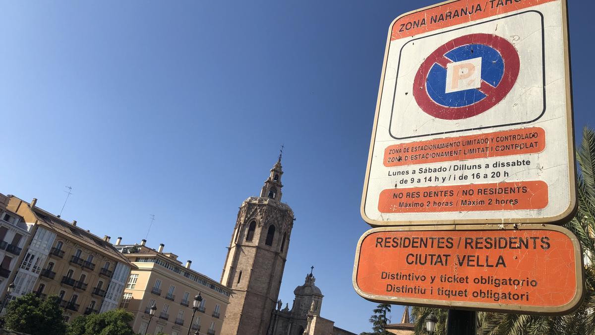Zona naranja en València