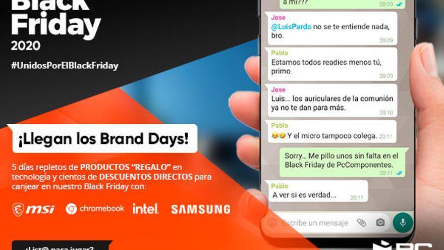 PcComponentes lanzará más de 3.000 premios directos en sus Brand Days