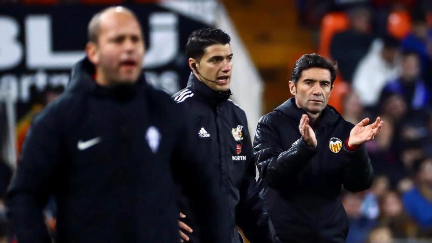"""Marcelino: """"Sabía que el Sporting nos iba a complicar el partido"""""""