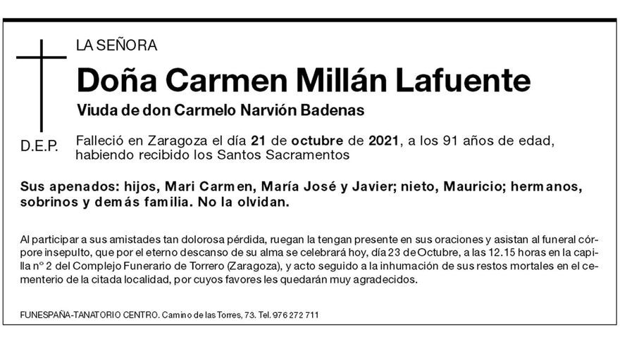 Carmen Millán Lafuente