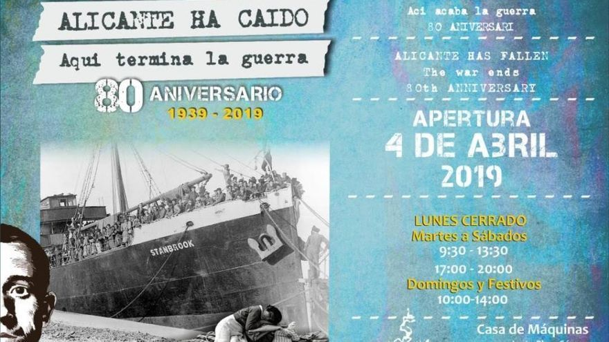 """Abre la exposición sobre la Guerra Civil """"Alicante ha caído. Aquí termina la guerra"""""""