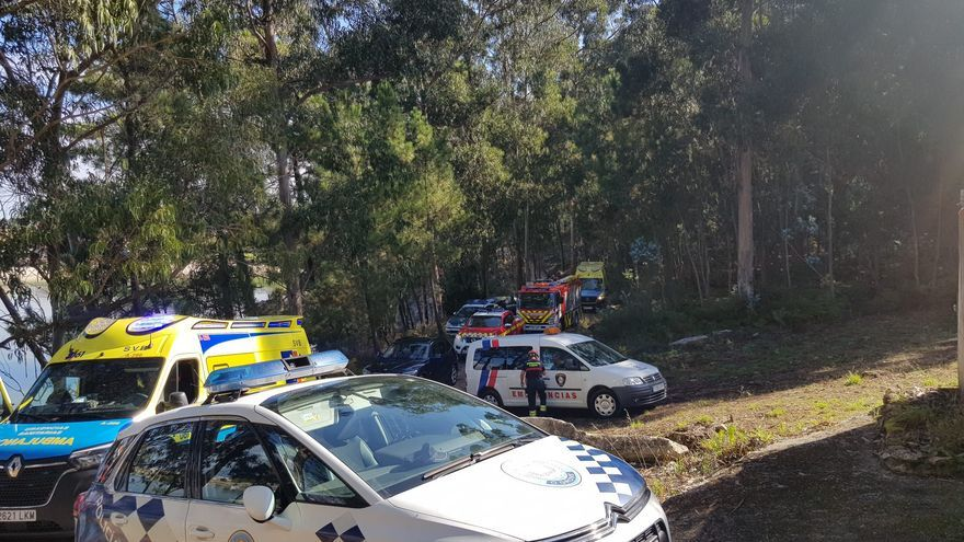 Rescatada una joven tras caer por un desnivel de seis metros en O Grove
