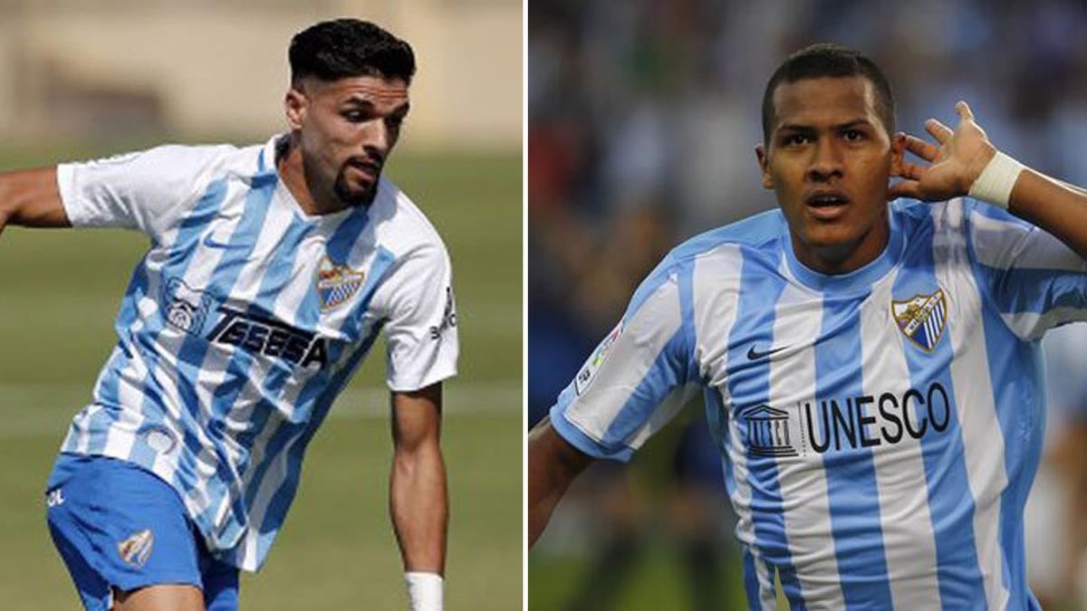 Antoñín y Salomón Rondón, cuando eran jugadores del Málaga CF.