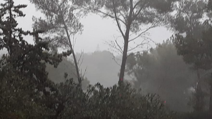 Intensa lluvia en el noreste de Mallorca