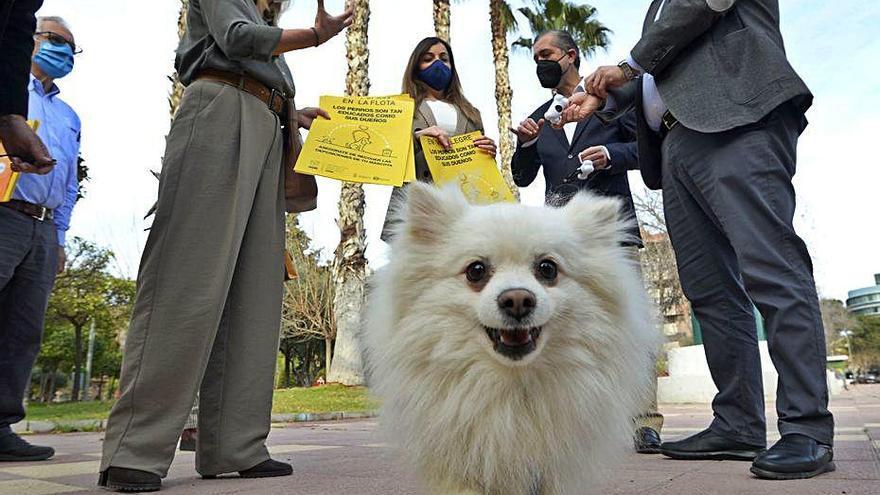 Concienciación en La Flota y Vistalegre para limpiar cacas de perro