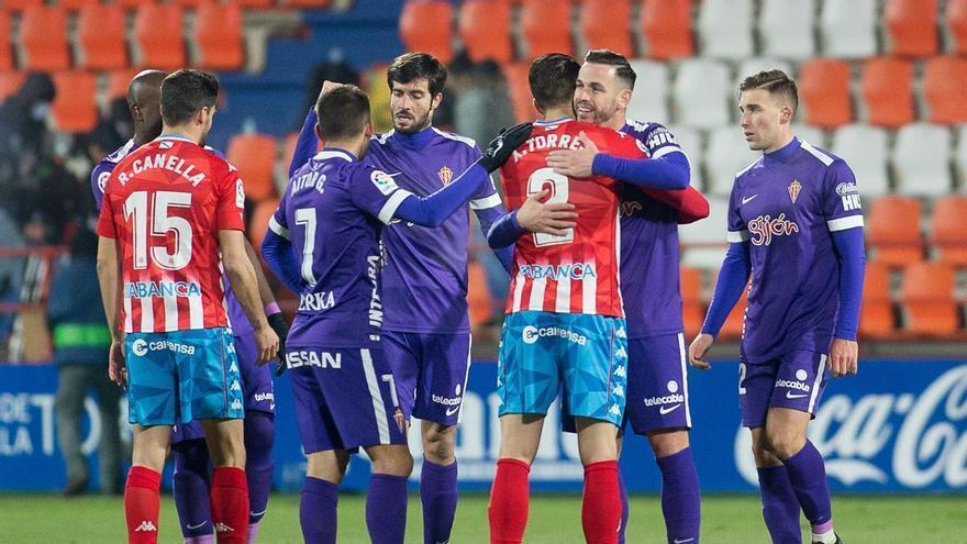 Sporting y Lugo, reñidos con  la victoria
