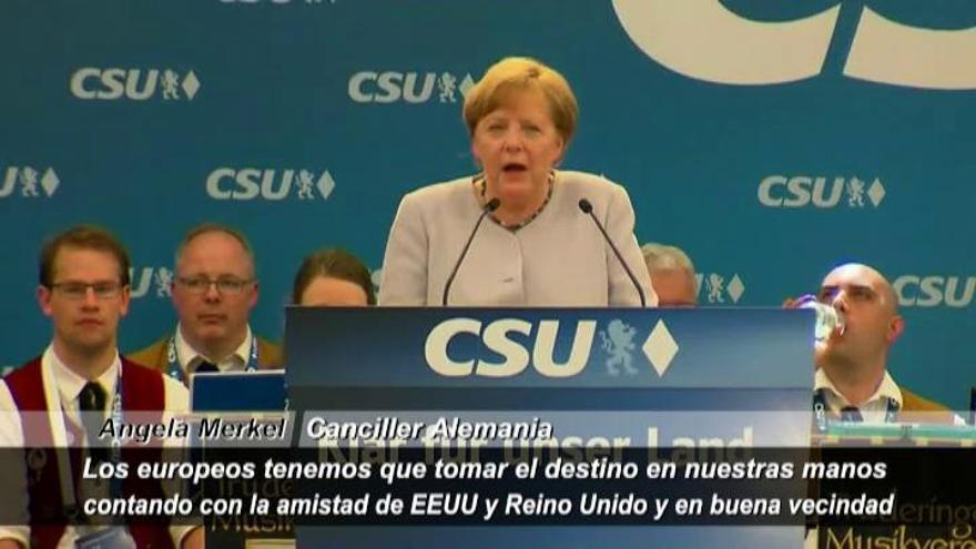 Merkel pone en duda el apoyo de EE UU a sus aliados