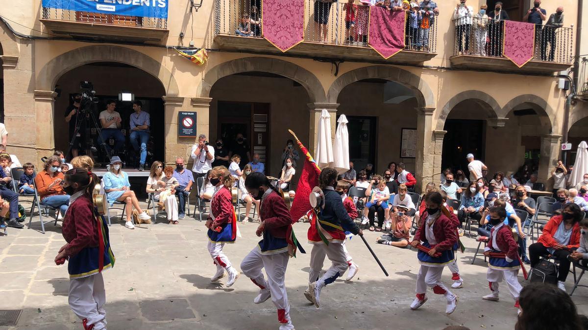 Un dels ballets viscuts ahir al migdia a Solsona en el marc de les festes de Corpus