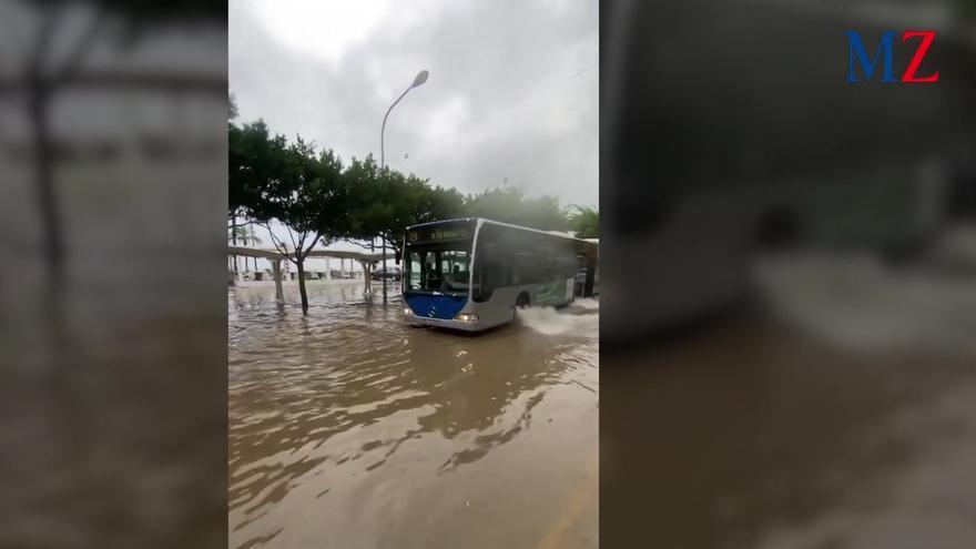Kleinere Überschwemmungen an der Playa de Palma