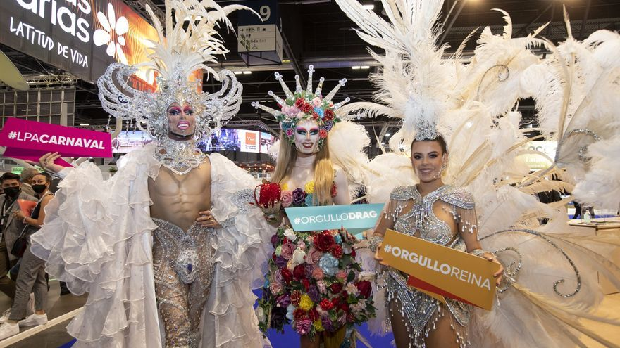 Las coronas del Carnaval de Las Palmas de Gran Canaria reinan en Fitur