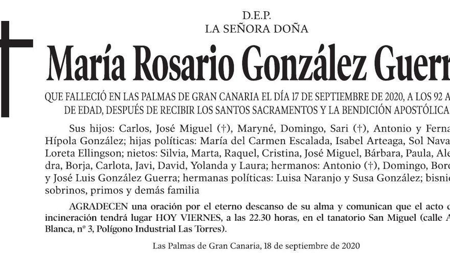 María Rosario González Guerra