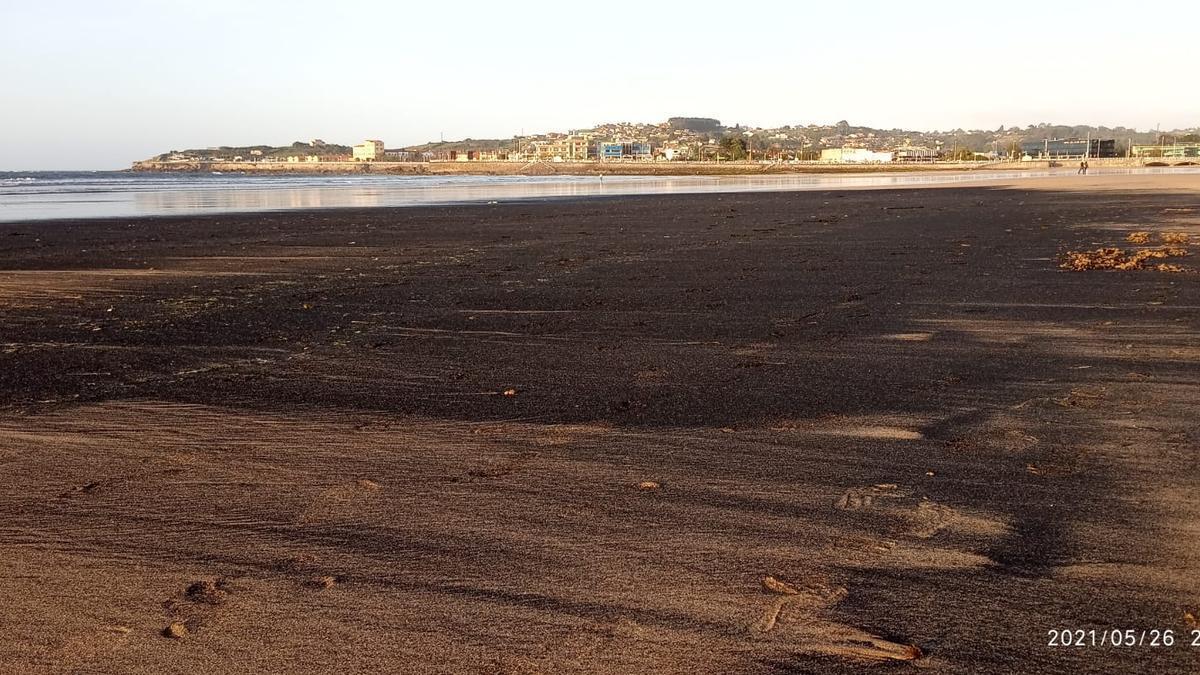 La mancha de la playa.