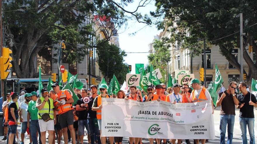 Las protestas por el conflicto de las ambulancias seguirán en Málaga