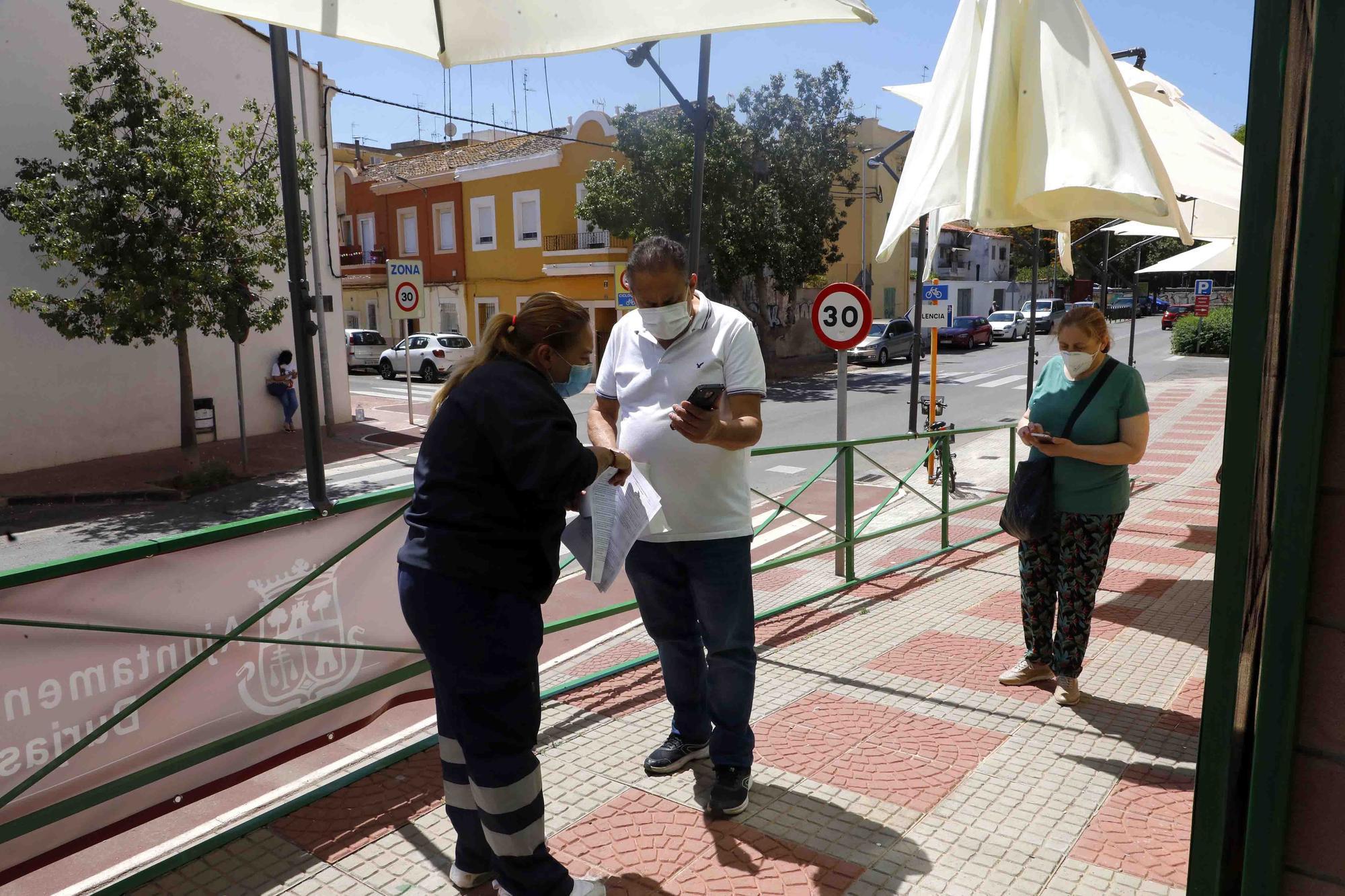 Vacunaciones en el Pabellón Municipal de Burjasot