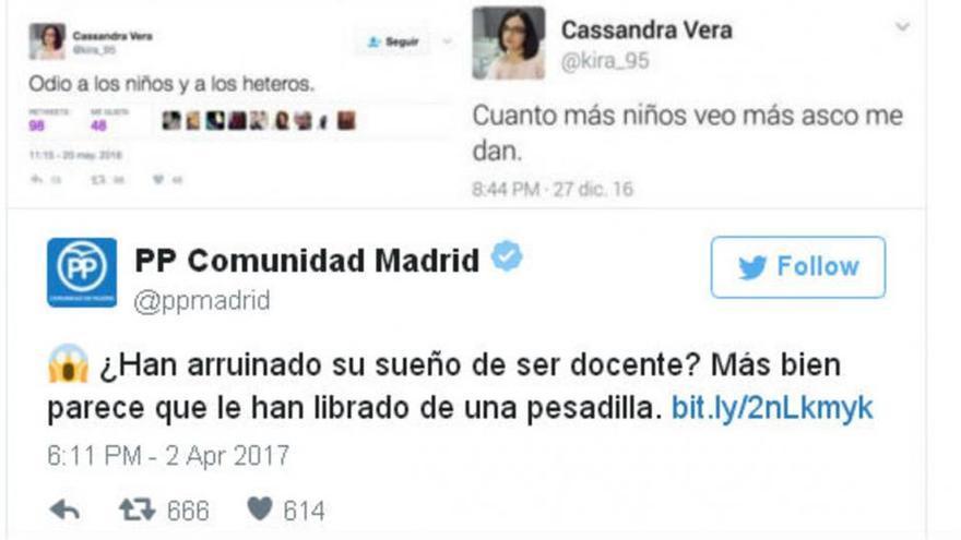 El PP de Madrid trolea a Cassandra