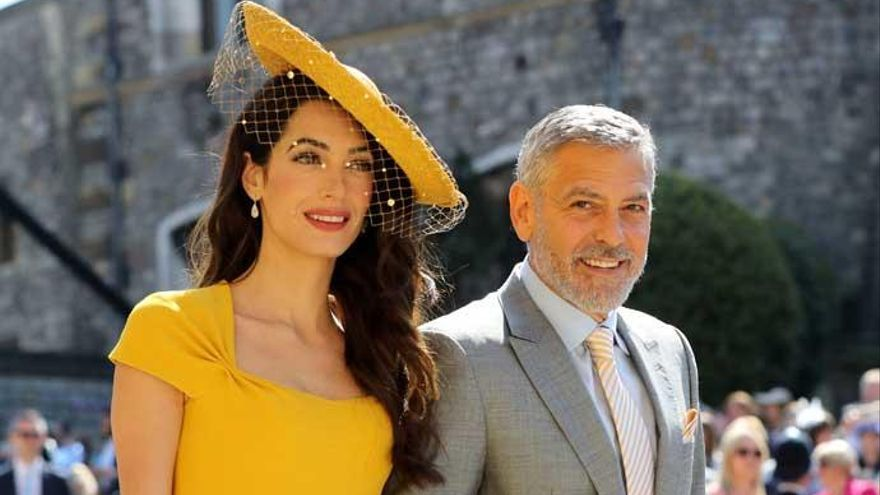 George y Amal Clooney, en la boda de Harry y Meghan.
