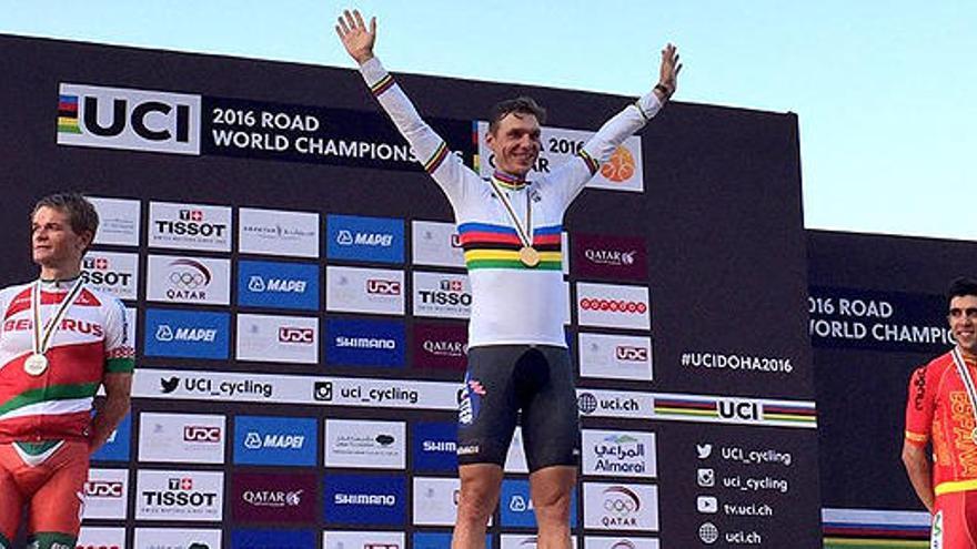 Castroviejo conquista el bronce en el Mundial contrarreloj de Doha