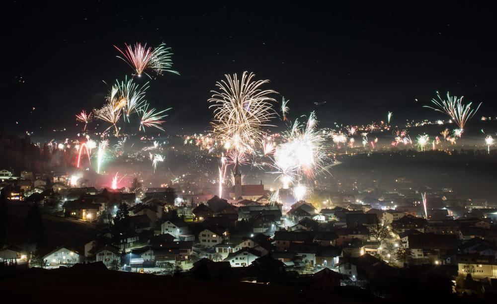 New Year's Eve celebration in Burgberg im Allgaeu
