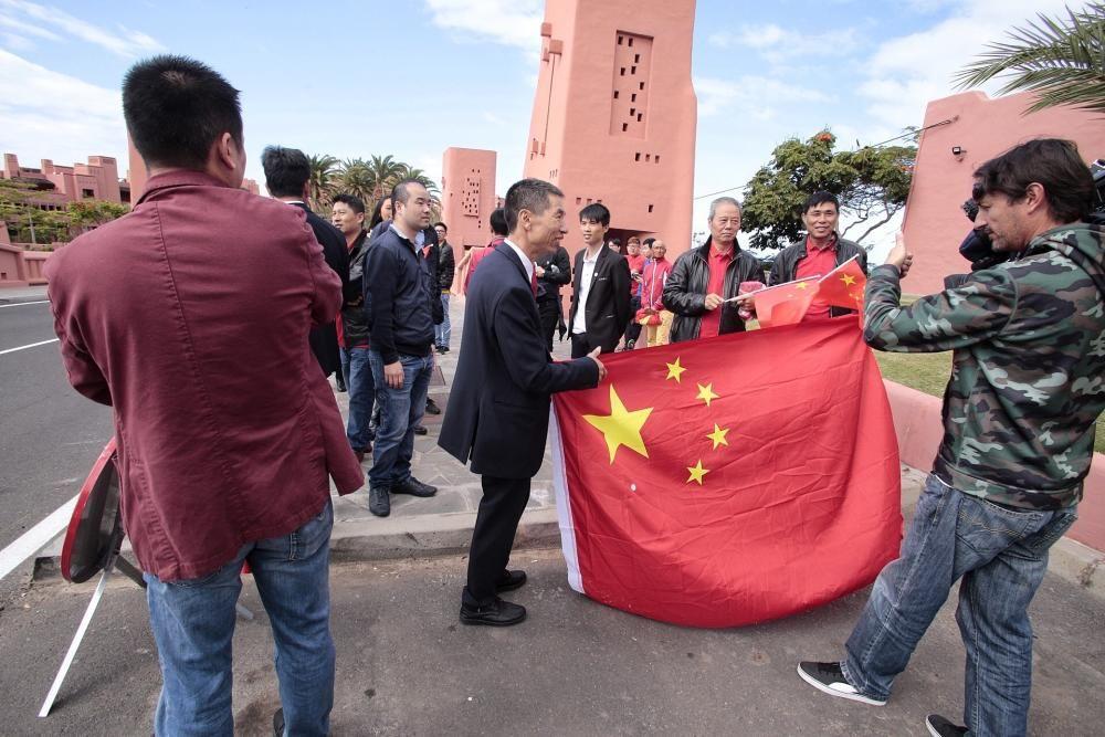 Visita del presidente de China a Tenerife.