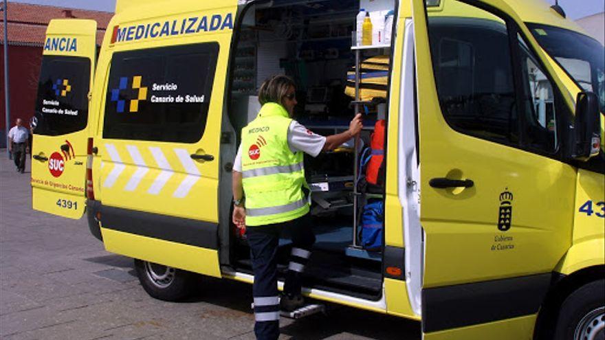 Un motorista resulta herido tras colisionar contra un turismo en Gran Canaria