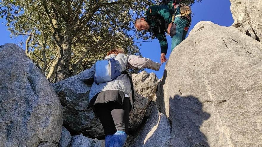 Rescatan a una senderista perdida en la Serra de Alfàbia
