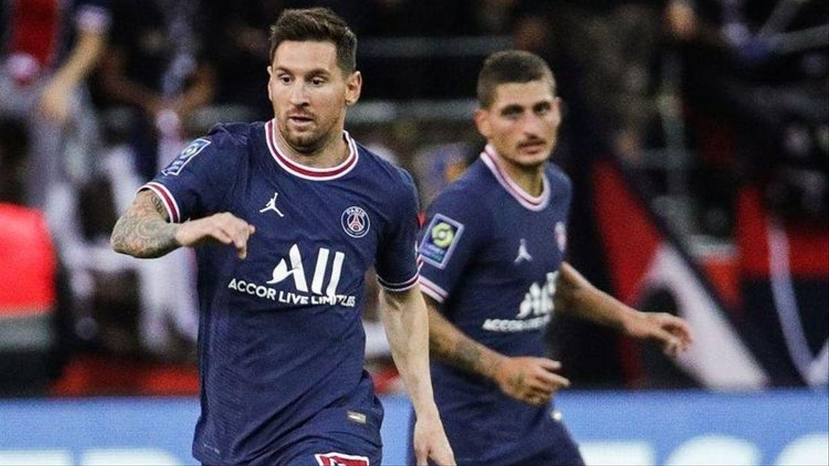 Messi en su debut en el PSG.