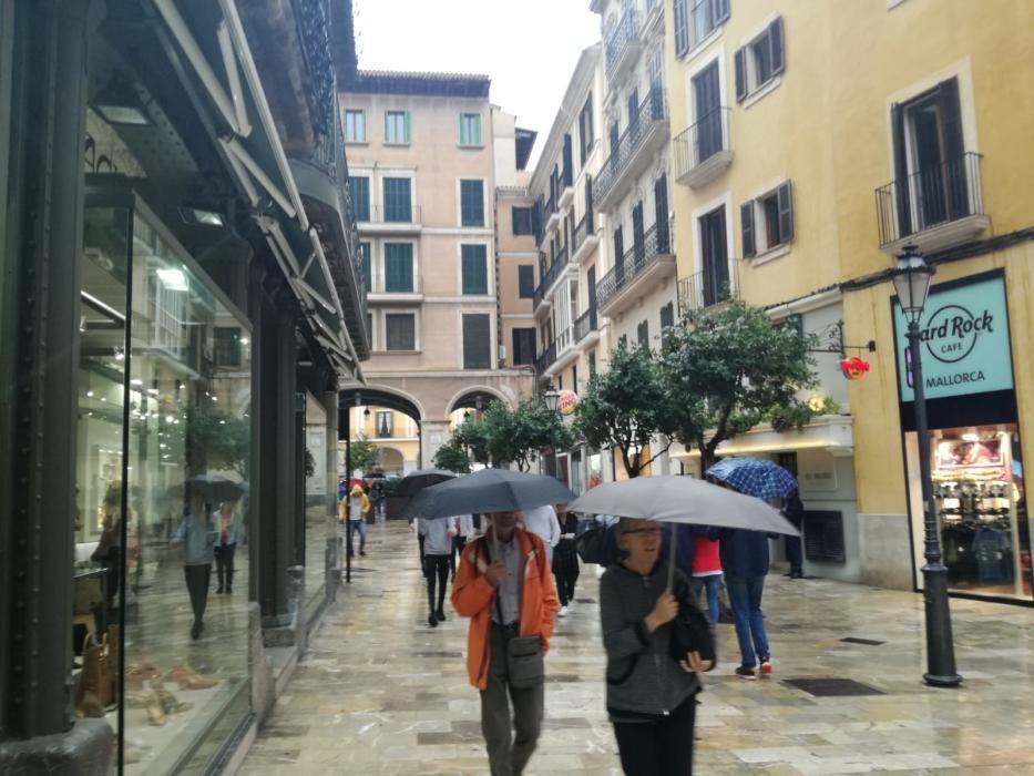Regentag in Palma de Mallorca.