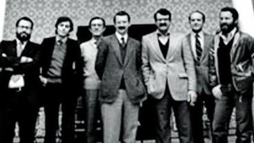 Los llamados padres del Estatuto de Andalucía.