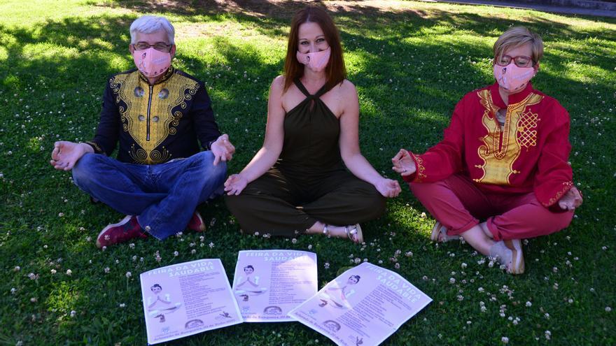 Talleres y yoga en la feria de vida saludable en A Xunqueira