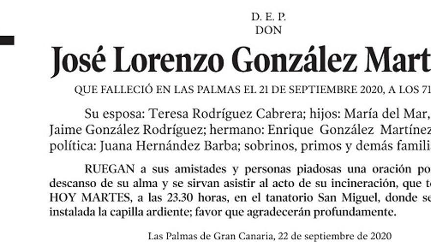 José Lorenzo González Martínez