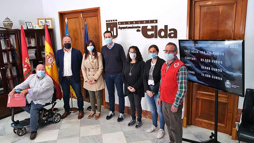 Las ayudas de Elda a las ONG se triplican en 8 años hasta alcanzar los 445.000 €
