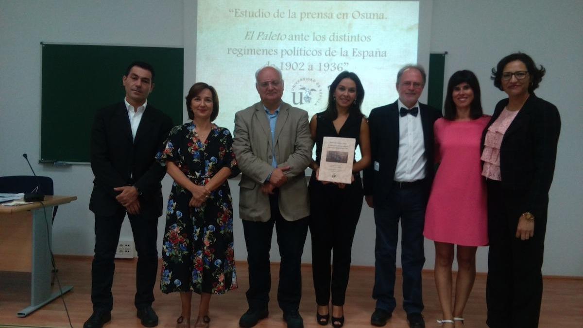 En la imagen, parte de los miembros del grupo de investigación que impulsa el proyecto HICPAN, entre ellos la profesora de la UMA Laura López Romero.