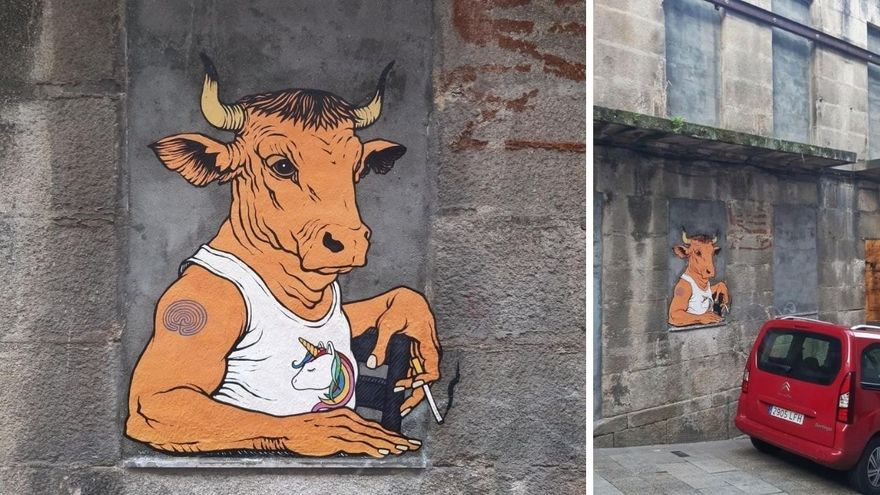 El arte urbano del Bansky gallego regresa a las paredes de Vigo
