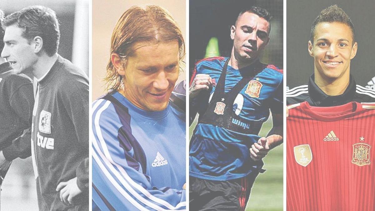 Otero, Míchel Salgado, Aspas y Rodrigo.
