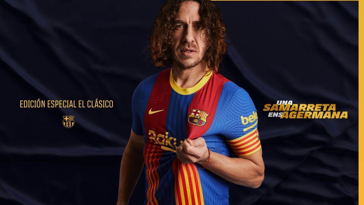 El Barça presenta una camiseta especial con senyera para el clásico