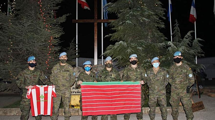 Militares zamoranos en el Líbano