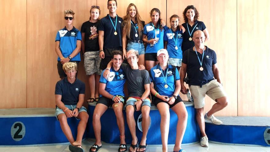 El Kayak de Mar del Náutico Campello cierra la temporada autonómica en Castellón con seis títulos