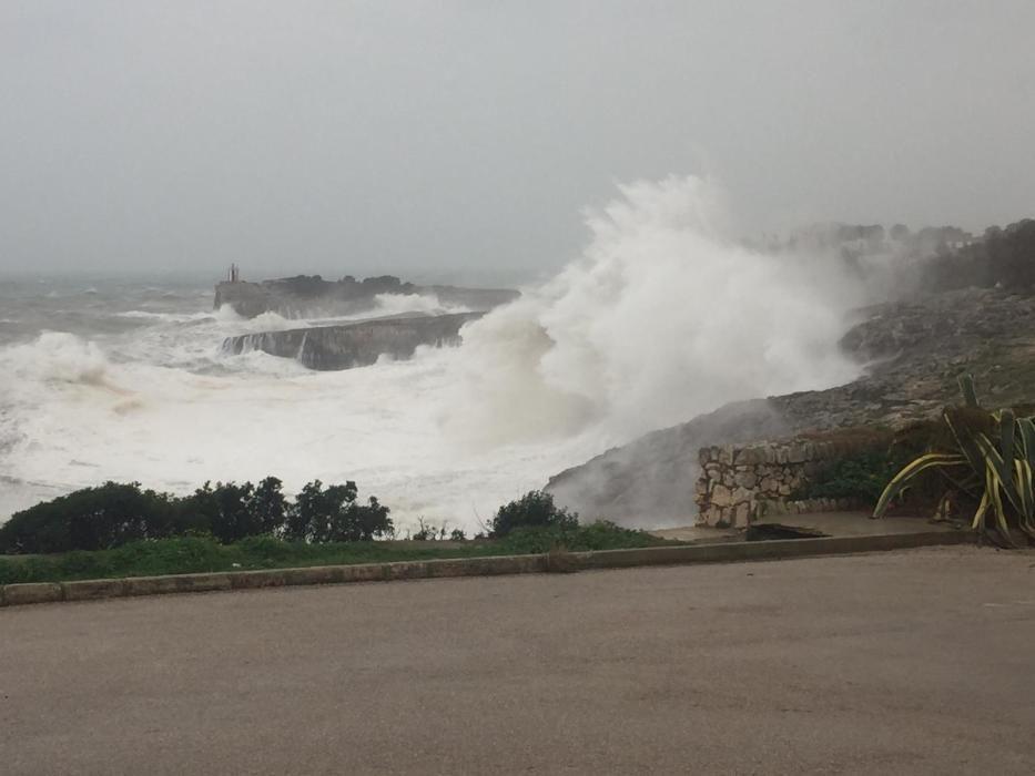 So hoch waren die Wellen an der Ostküste von Mallorca