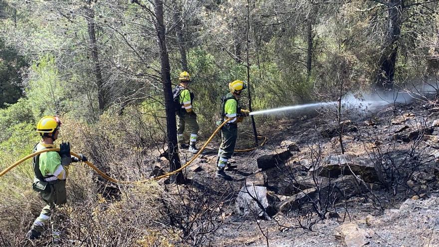 La mitad del terreno afectado en el incendio de Azuébar está dentro del parque natural