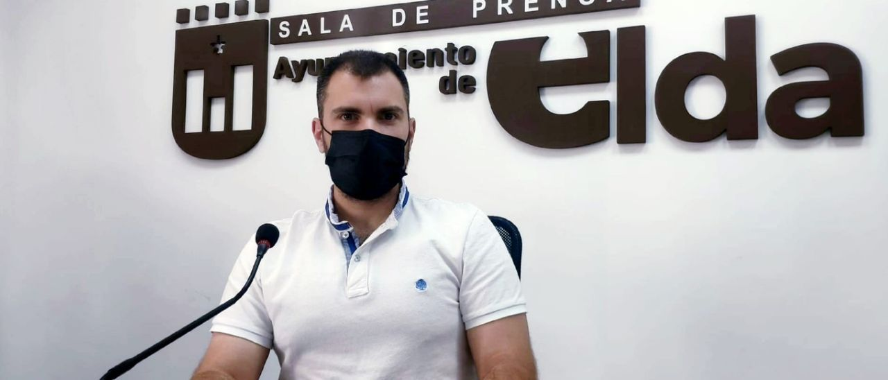 El concejal de Vivienda de Elda, Javier Rivera.