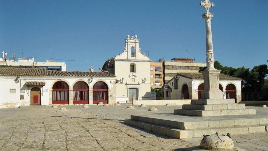 Burjassot: Les pedres del pati de Sant Roc