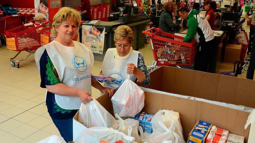 El Banco de Alimentos pide 25 voluntarios en Moaña para la Gran Recogida Solidaria 2016
