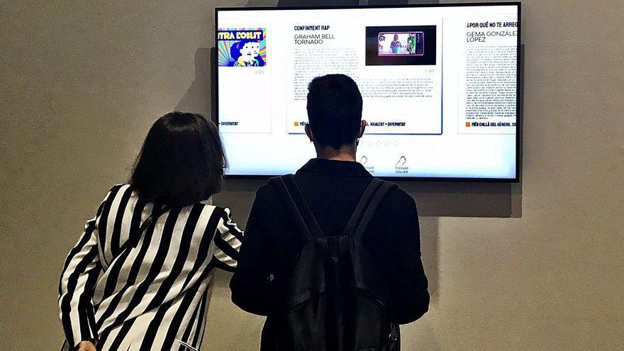 El Centre del Carme cuelga 100 obras de arte digitales para una nueva era