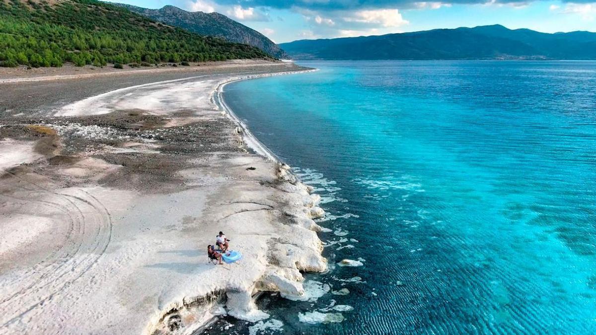 Lago Salda, en Turquía