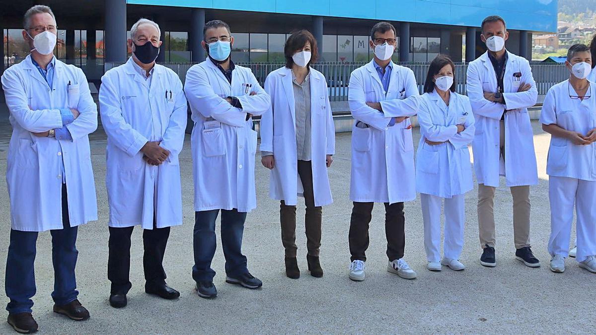Parte del equipo multidisciplinar que forma parte de la unidad de pie diabético del hospital Älvaro Cunqueiro.     // FDV
