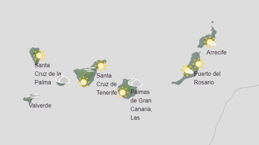 Viernes con algunas lluvias en Canarias en espera del mal tiempo