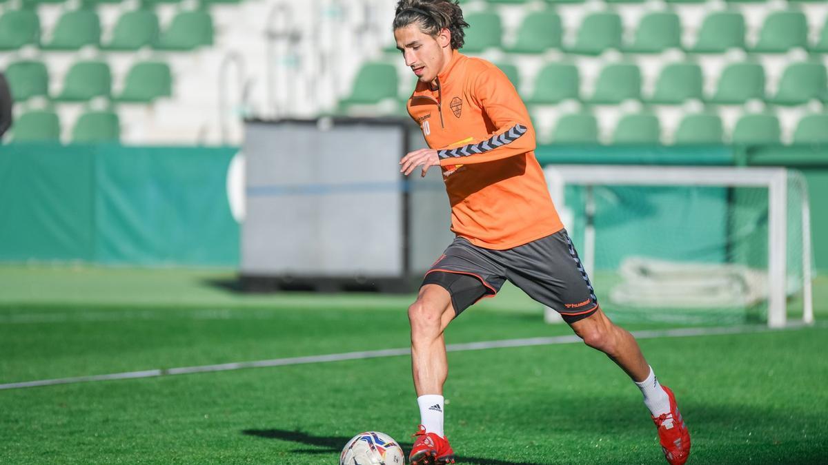 Pere Milla, durante un entrenamiento