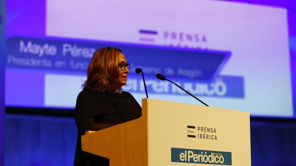 Mayte Pérez, presidenta en funciones del Gobierno de Aragón