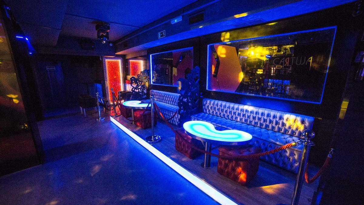 Interior de una discoteca